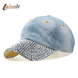 Hot Cowboy Rhinestone Hat Floral Point Drill Denim Bone Baseball Cap  Snapback Hats For Women Cheap Fashion Sale Caps 7a1bd9dd4891
