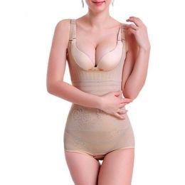 67df79eeb Hot Shapers Bodysuit Sauna Suit Waist Trainer Corsets Neoprene Body Shaper  Women Slimming Full Shape Underwear sexy lingerie