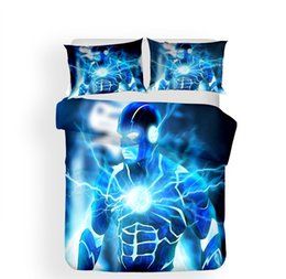 Discount duvet covers 3D Art Prints The Flash Super hero Pattern Home Textile Bedding Sets All Sizes Pillow Case Quilt Cover No Filler 2 3pcs