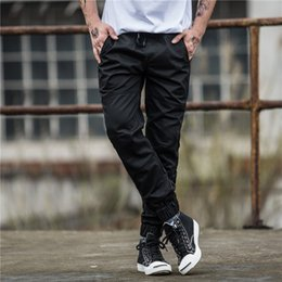 2017 pants New Mens Pants Fashion Black Jogging Pants Womens Zipper Overalls Beam Foot Trousers Irregular Joggers Pants Mens Joggers