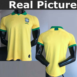 Brazil brasil jersey 2019-2020 MARCELO 12 G.JESUS 9 P.COUTINHO 11 PAULINHO  15 home soccer football jersey shirts 8882c1cdc