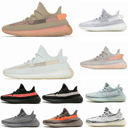 d3ac10037 350 V2 True Form Hyperspace Clay Static Mens Running Shoes Kanye West Cream  White Black White Bred Women Fashion Sport Sneakers 36-48
