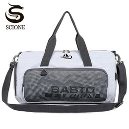 2017 luggage Waterproof Nylon Travel Handbag Dry And Wet Separation Men Women Luggage Duffle Bags Shoulder Overnight Bag With Shoes Pocket