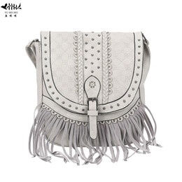 2019 Fashion Vintage Fashion Bohemian Bags hippie for Women 2019 Shoulder  Crossbody Bag PU Leather Woman Lady Girl Bags Fringe Tassel Bag 6c76c0bf2b615