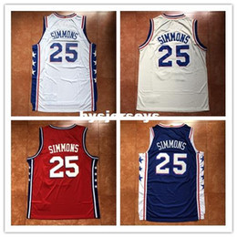 48fe739e1bd6 New Mens  25 Ben Simmons Top Basketball Jersey US Size XS-6XL Stitched Best  Quality vest Jerseys Ncaa