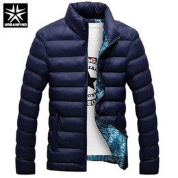 URBANFIND Winter Jacket Men 2018 Fashion Stand Collar Male Parka Jacket Mens  Solid Thick Jackets and Coats Man Winter Parkas 8a601166b