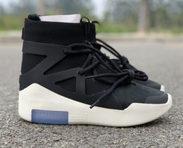 Discount boots With Box Air Fear of God 1 Boots Fashion Designer Shoes FOG Outdoor Boots Black Grey White Zoom Sneakers Size 5-12 free shippment