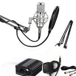 2017 microphone Full Set Microphone Professional BM800 Condenser KTV Microphone Pro Audio Studio Vocal Recording Mic + Metal Shock Mount