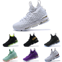 purchase cheap 55e2f 3a00c High Quality 2019 Lebron 15 White Metallic Gold Mens Basketball Shoes James  15 Sneakers XV Sports Shoes Size 40-46 On Sale