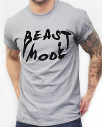 1963b50a3b Blue Beast Canada - Beast Mode T Shirt Teeth Gym Mens Training Workout  Clothing Fit MMA