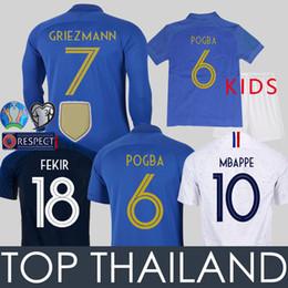 94aa8c254b6 Soccer jersey kit en Ligne-2019 France Maillots de Foot France Enfants  MBAPPE GRIEZMANN POGBA