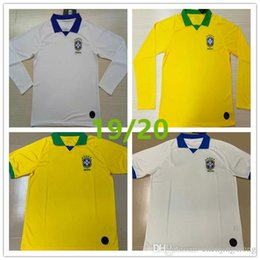 1f5bea56eee 2019 Brazil soccer jersey JR COUTINHO PAULINHO MARCELO G JESUS 19-20 Brasil  COSTA home away Long sleeve Short sleeve football shirts