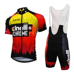 Discount bike New 2019 CINELLI Short sleeve Cycling Jersey Sets Pro Team Breathable Men Cycling Kits MTB Bike Clothing Racing Bicycle Sports Suit Y022002