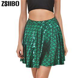 1b071f6357 2019 Summer snake print wrap skirt half-length women's pleated mini  Reflective skirt high waist skirt casual women's Clothes