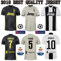 3f7441997 Serie A TOP RONALDO 2018 2019 JUVENTUS Soccer Jerseys 18 19 JUVE CR7 Home  Away Third DYBALA HIGUAIN Football Shirt CRISTIANO Uniform Team