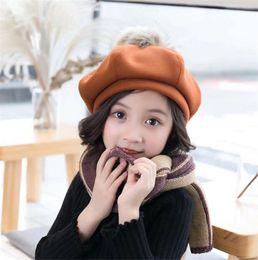 127cd1bf86592 Fashion Children Wool Warm Berets Spring Ball Berets Autumn Kids Cute Beret  Hats Baby Girl Hat Caps Retro Caps Fashion Beanie