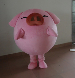 Professional custom pink pig Mascot Costume Cartoon Fat pig Character Clothes  Christmas Halloween Party Fancy Dress 7c06c9515ff7