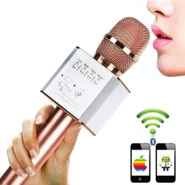 2017 microphone Karaoke Microphones Q9, Wireless Bluetooth 4 in 1 Portable Handheld Home KTV Player - Compatible with Android and iOS