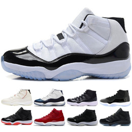 Discount golf 11 XI Men Basketball Shoes New Arrivals Concord Platinum Tint Designer Sneakers 11s Chicago Bred Cap and Gown Sports Shoes US 5.5-13