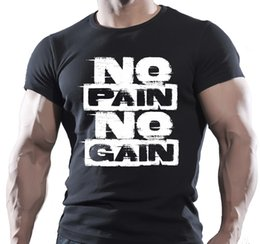 514e1ffe7b NO PAIN NO GAIN Mens MMA GYM BODYBUILDING MOTIVATION T-Shirt BEAST CLOTHING  Tees Custom Jersey t shirt