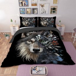 2017 duvet covers 3D Wolf Bedding Set Animal Duvet Cover Quilt Cover Bed Pillow Cases Home Textile 3pcs Floral Cool