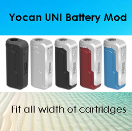 2017 e cigarette Authentic Yocan UNI Mod E Cigarette Box Mod For All Width of Cartridges Preheating Voltage Adjustable Vape Mod 5 Colors