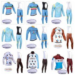 ASTANA AG2R Team Winter Thermal Fleece Men Cycling Jersey Set Long Sleeves  Cycling Sportswear MTB Bike Ropa Bib Long Pants K011010 94c241351