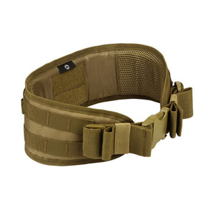 Men Army Camouflage MOLLE Girdle Tactical Outer Waist Belt Padded CS Belt Multi-Use Equipment Airsoft Wide Belts New