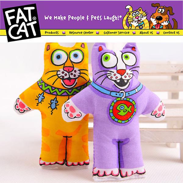 Whole ale pet product  cat  upplie  cat toy pet toy fatcat toy kitten fat cat with mint catnip catmint 3139