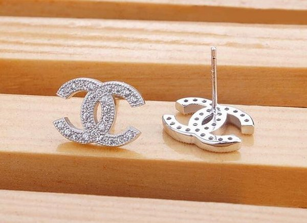 Wholesales Количество серьги моды серьги стержня женские модели небольшие высококлассные Серебряные серьги Swiss Diamond Sterling серьга 925 серебра
