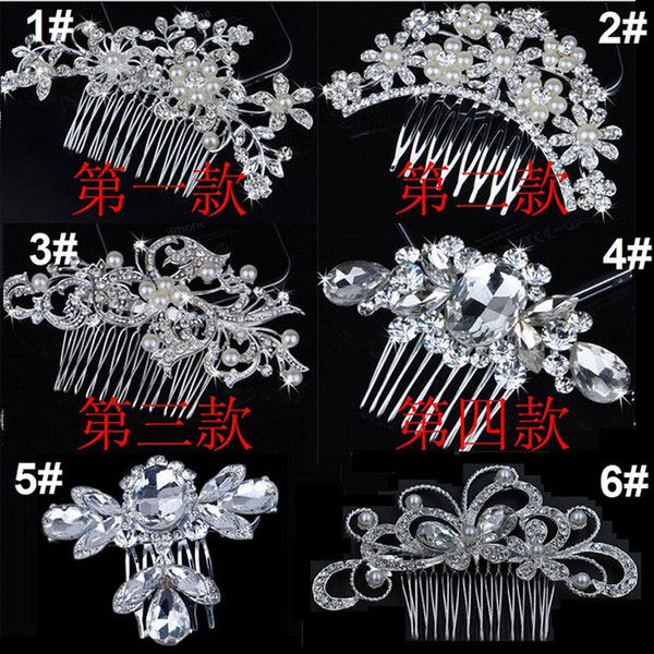 Bridal wedding tiara tunning fine comb bridal jewelry acce orie cry tal pearl hair bru h utterfly hairpin for bride