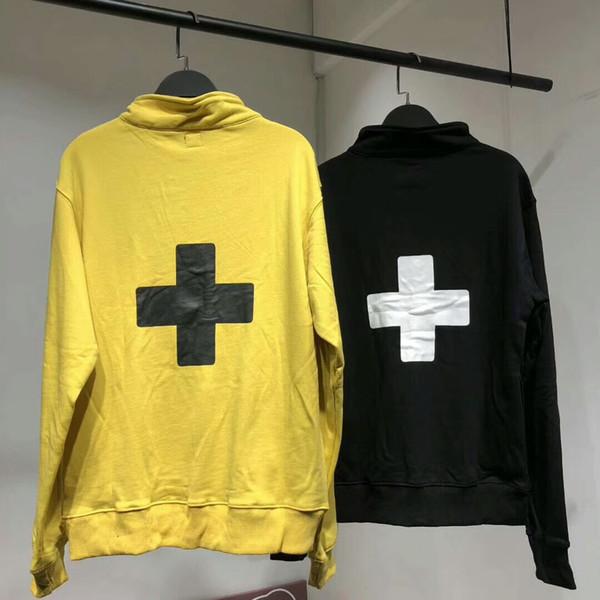 18AW PLACES+FACE Half Zip Sweatshirt Pullover Hoodies Fashion Men Women Couple Long Sleeves Outerwear High Street