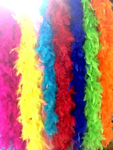 Оптово-Турция перо боа шарф Огонь курица-перо свадьба украшение индейки перо боа фото