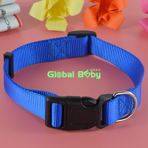 100piece lot new arrival brand 3 color 4 ize tocked nylon dog pet collar necklace cat puppy product