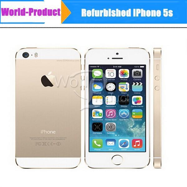 Originale telefono Rinnovato iPhone 5S 1G / 16GB 4.0inch sbloccato di fabbrica touchscreen da 8 megapixel smartphone telecamera mobile sistema IOS chiamata 002.832