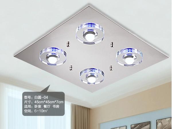 Techo lámparas de cristal de la lámpara sala de lámparas led ...