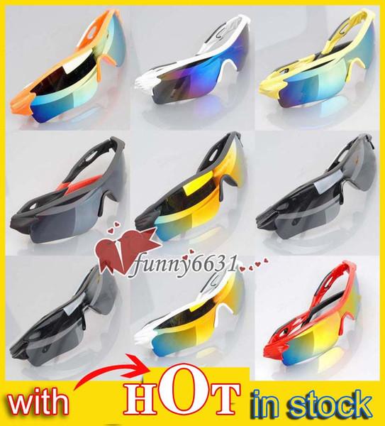 Sommer neueste Art Nur SUN Gläser 9 Farben Männer Fahrrad-Glas NICE Sport-Sonnenbrille Dazzle Farbe Gläser A +++ freies Verschiffen Sonnenbrille