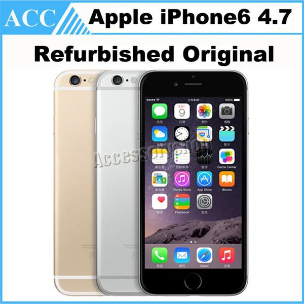 Remis à neuf débloqué d'origine Apple iPhone 6 4.7 pouces IPS 1 Go de RAM 16 Go 64 Go ROM IOS8 8.0MP 1080P 4G LTE Smart Phone DHL gratuit