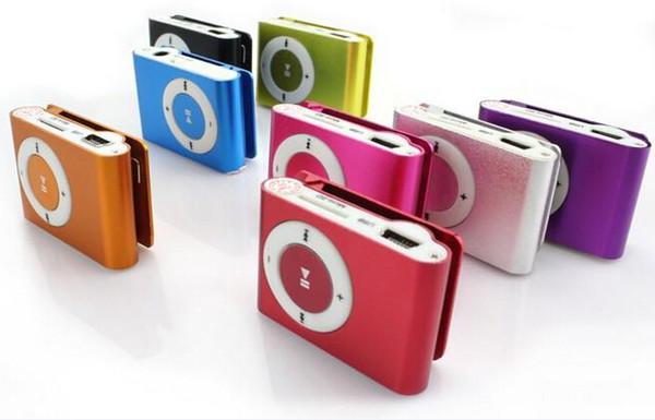 Mini Lettore MP3 della clip - 2015 CALDO! Economici Colorful Sport mp3 giocatori Vieni con auricolare, cavo USB, la scatola al minuto, sostiene la micro SD / TF Card