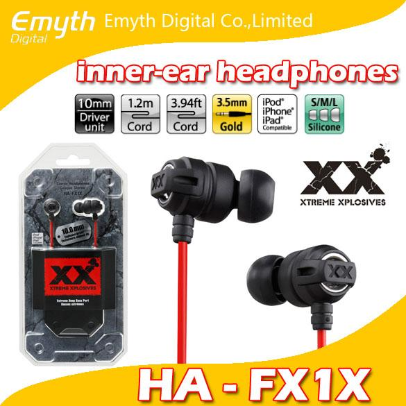 Ha fx1x hifi ba   in ear xtreme xplo iv  tereo headphone  ca que  tereo earphone for iphone ipad ipod with retail package
