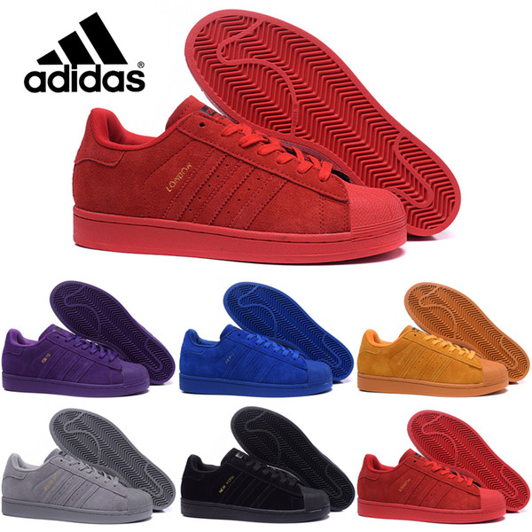 adidas Originals Superstar 80S Ciudad temporada caliente zapatos de las mujeres del hombre zapatillas de deporte de hombre zapatos zapatos de las mujeres clásicas parejas patinan los zapatos
