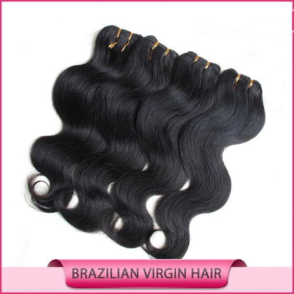 Capelli umani del tessuto dei capelli brasiliani del Virgin dell'onda del corpo dei capelli tesse estensioni di trama dei capelli economici Malesia peruviano indiano doppia trama 50g 6Bundles