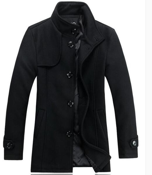 Новый Зилли мужские мужские мужские шерстяные пальто, вскользь пальто