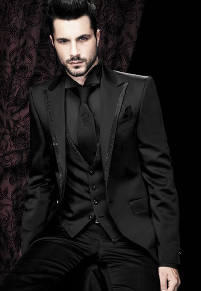 All Black Wedding Suit - Go Suits
