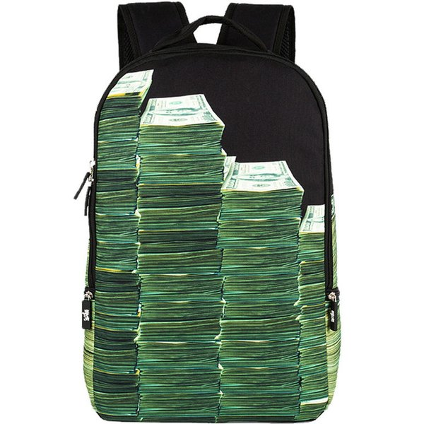 Bill cash backpack Sprayground design daypack Street money schoolbag Cool rucksack Sport school bag Outdoor day pack