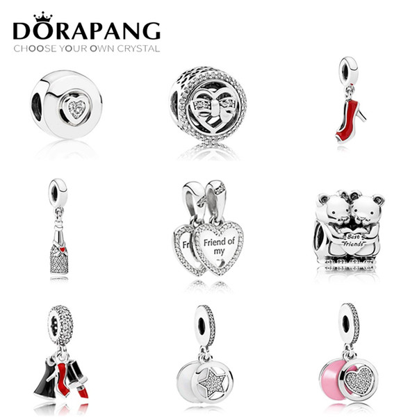 Dorapang lovely charm bead high heel pendant fit a early autumn erie 925 terling ilver diy bracelet whole ale factory