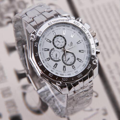 Мужчины Смотреть Три Глаза Шесть-контактный Мода Бизнес нержавеющей ремешок кварцевый Anti-Shock Анти-магнит жизнь водонепроницаемый наручные часы