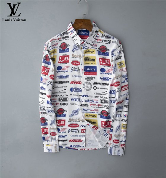 Brand mens designer long sleeve shirts firmate dress shirts fashion casual luxury shirt plaid shirt homme button up 035 фото