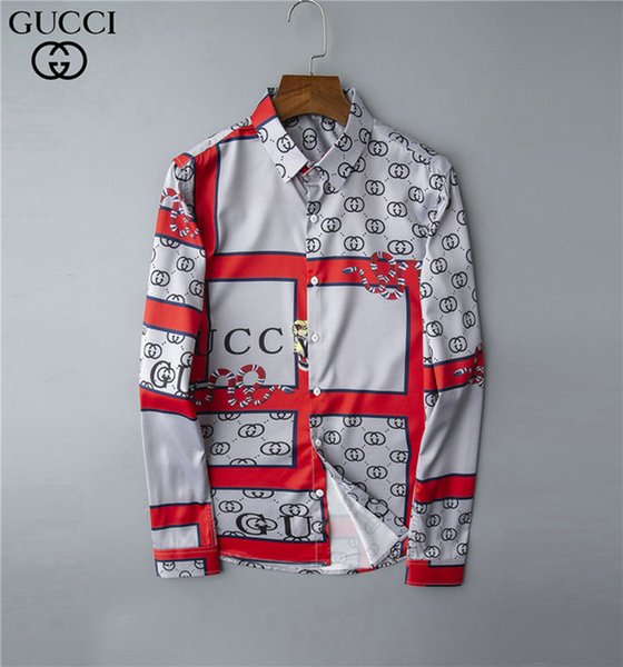 Brand mens designer long sleeve shirts firmate dress shirts fashion casual luxury shirt print shirt homme button up 038 фото