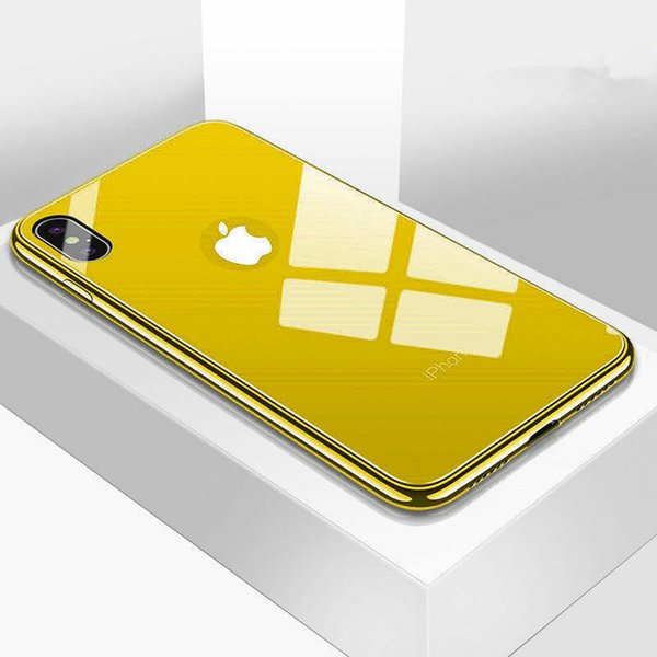 Ca e for iphone x max xr luxury 9h hard tempered gla   ca e mirror gla   back cover phone ca e